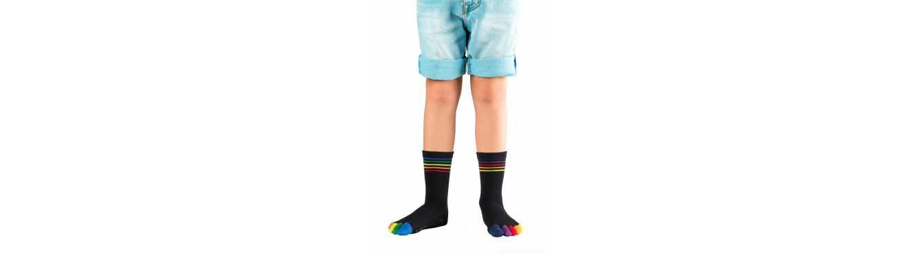 Chaussettes enfant à cinq doigts - petits pieds : taille 29 à 34