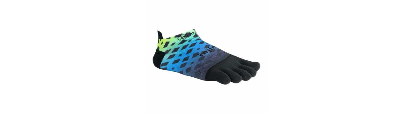 Chaussettes à doigts Coolmax une fibre synthétique adaptée aux sports