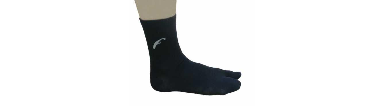 Chaussettes à 5 orteils en bambou, une fibre naturelle et renouvelable