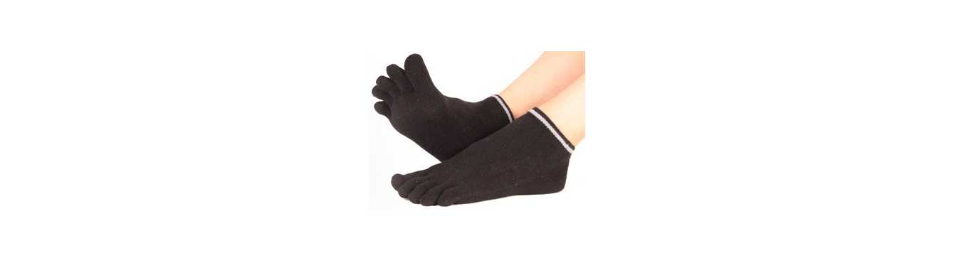Chaussettes socquettes à 5 doigts