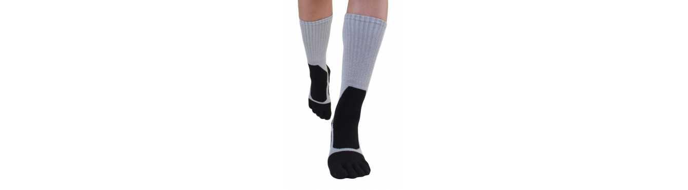 Chaussettes à 5 doigts pour la randonnée et la marche