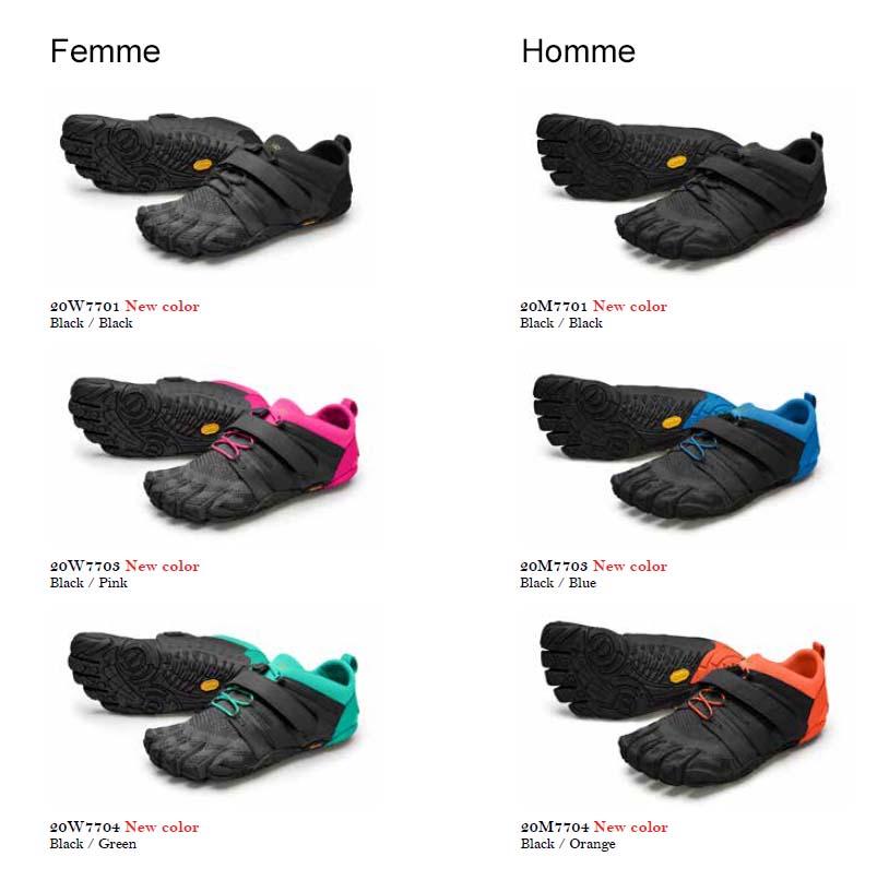 Chaussures minimalistes V-Train 2.0 FiveFingers tous les coloris 2020