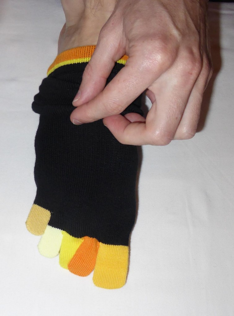 Tests de chaussettes à doigts Knitido multicolores