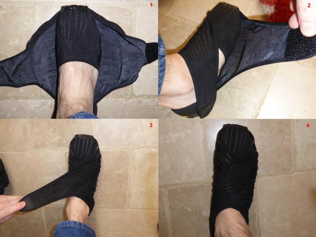 Enfilage de chaussure Vibram Furoshiki