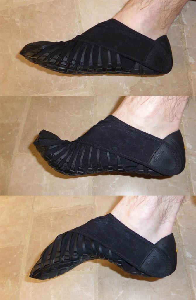 Flexibilite de la semelle des chaussures Vibram Furoshiki