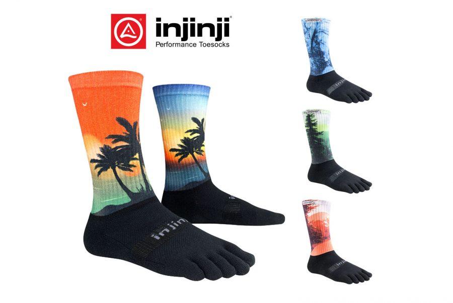 chaussettes à 5 doigts Injinji Spectrum trail et marche à pied