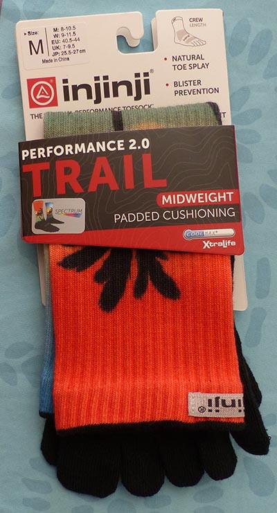 Chaussettes épaisses à 5 doigts Injinji modèle Trail Spectrum