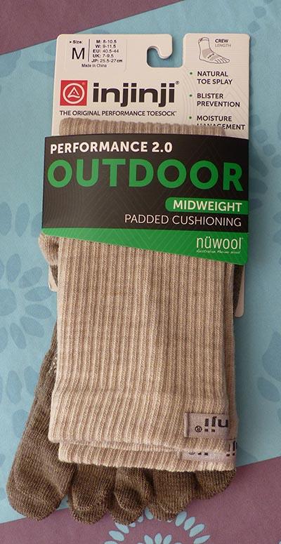 Chaussettes épaisses à 5 doigts Injinji modèle Outdoor Nuwool