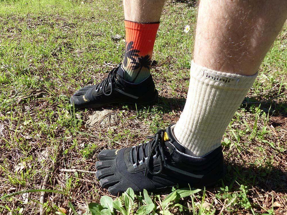 Test des VFF Trek Ascent Insulated avec chaussettes Injinji