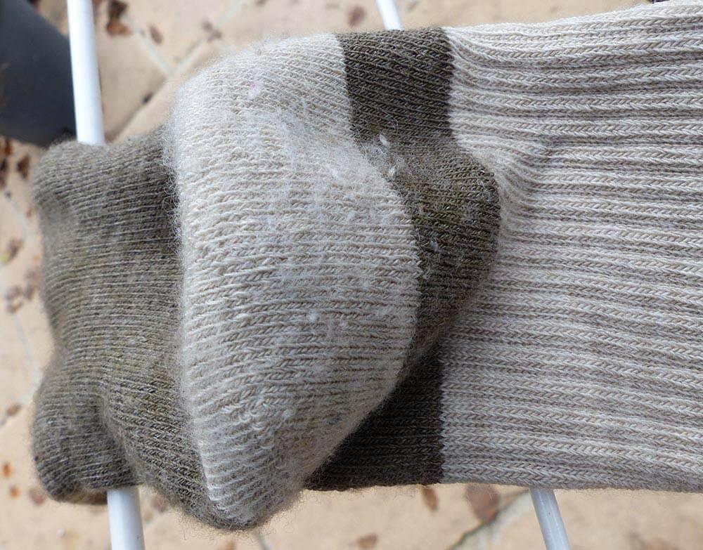 Usure des chaussettes à doigts Injinji en laine Nuwool