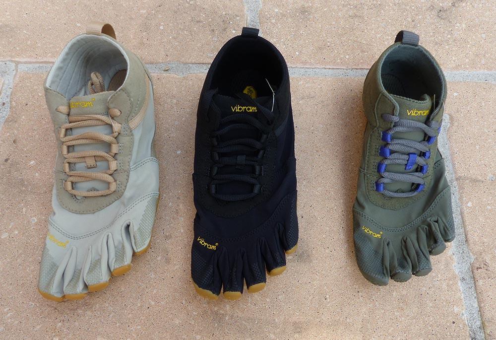 Photos des chaussures FiveFingers V-Trek montrant tous les coloris pour femmes