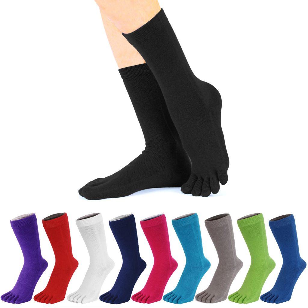 Chaussettes à orteils unies de la marque ToeToe 90% de coton