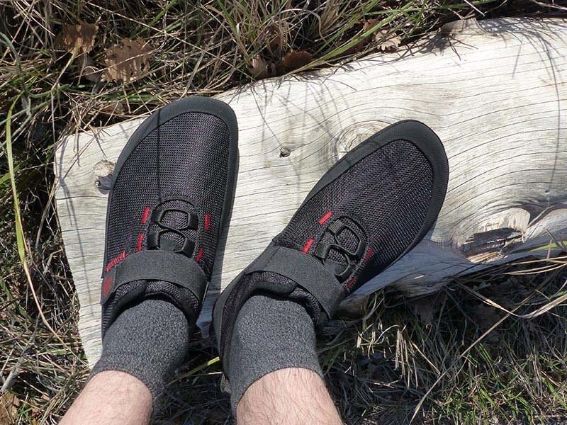 Photo de mon test des chaussures minimalistes FX Trainer de la marque Sole Runner