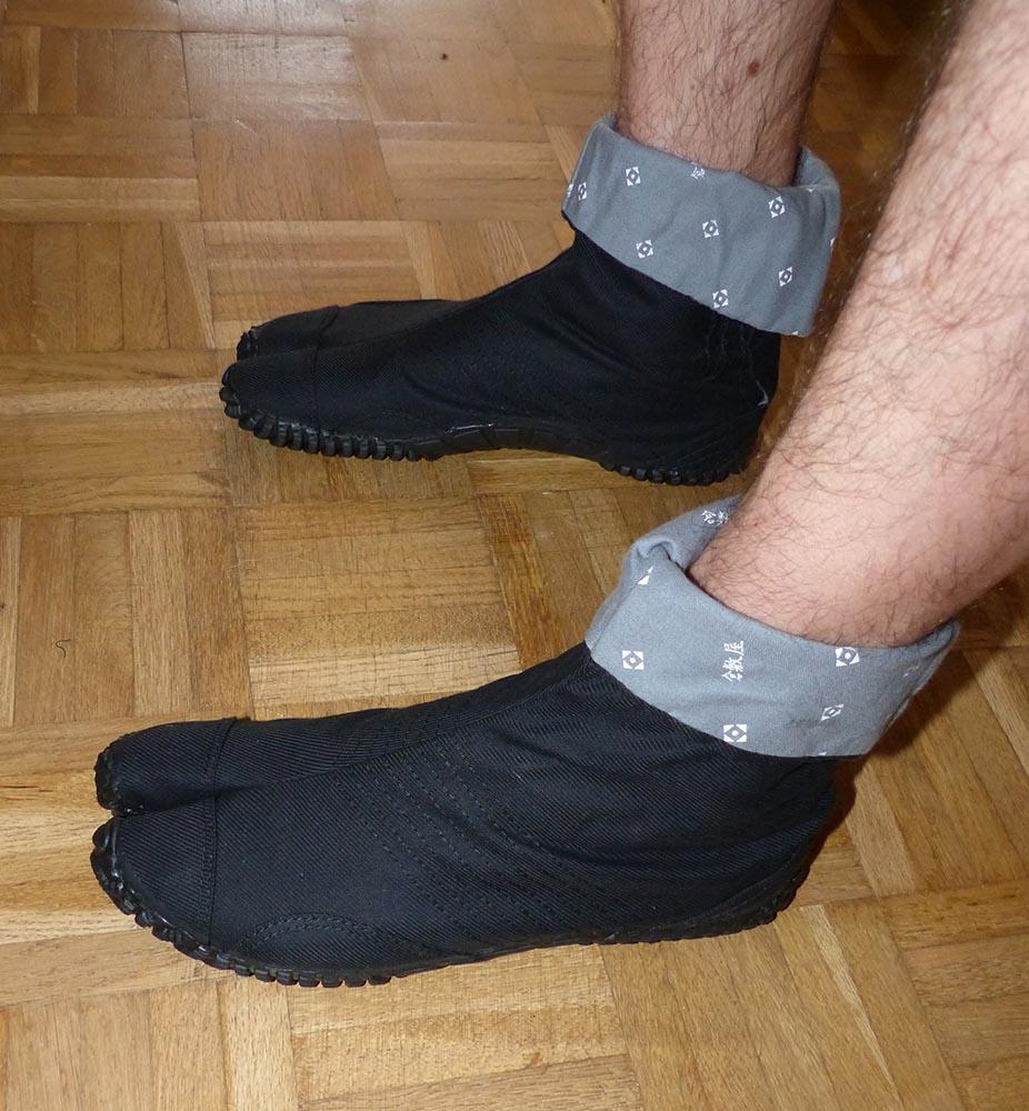 Photo de chaussure japonaise Jika-Tabi, marque : Kurashikiya, modèle : Saibu