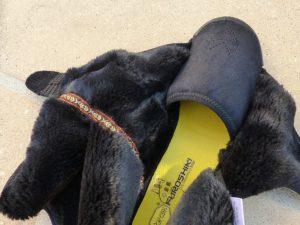 Photo de la fourrure intérieure des Furoshiki Hiver Eastern Traveler noir